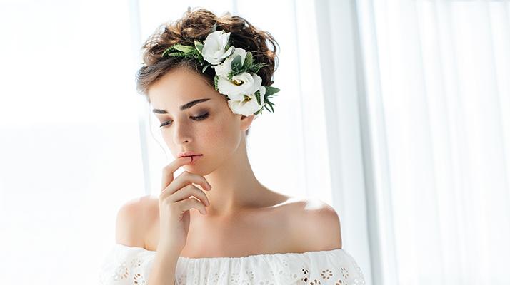 visoka punđa za vjenčanje