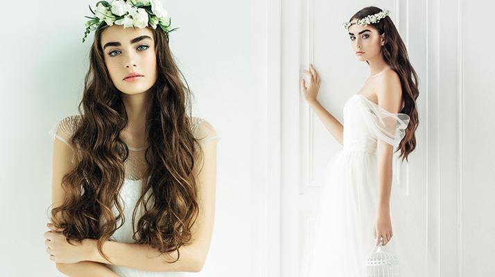 raspuštena kosa za boho vjenčanje